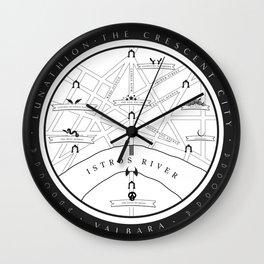 Lunathion Map Wall Clock