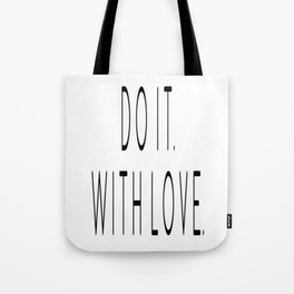 Do It With Love, Love Quote, Motivational Poster, Bedroom Decor, Gift For Her Tote Bag
