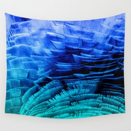 RUFFLED BLUE Wall Tapestry