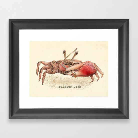 Fiddler Crab Framed Art Print