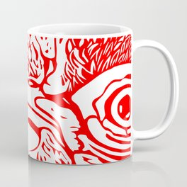 The Eye of the Hen in Red Coffee Mug