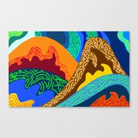 voyage Canvas Prints featuring Voyage by Stefferson Vector