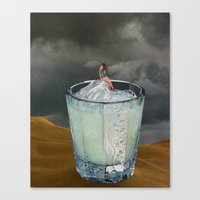 drink Canvas Prints featuring DRINK by Beth Hoeckel