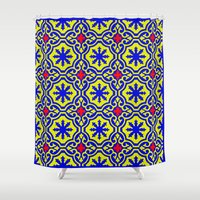 casablanca Shower Curtains featuring Arabic  by Barbo's Art