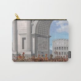Classical Masterpiece: Roman Legion in Triumphal Procession by Herbert Herget Carry-All Pouch