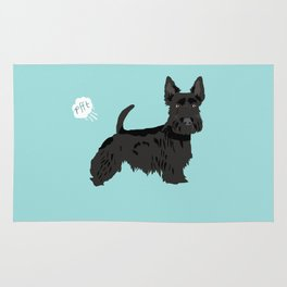 scottish terrier scotties funny farting dog breed pure breed pet gifts Rug