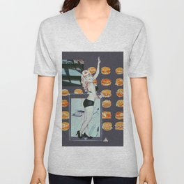 ΔMETHYST FΔILURE Unisex V-Neck