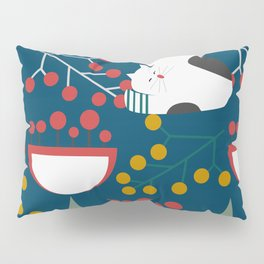 The red-nosed kitty Pillow Sham