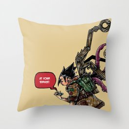 Gadget are girl bestfriend Throw Pillow