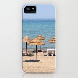 Beach Umbrellas, Zante iPhone Case