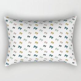 "Noeuds ""Bleu canard"" Rectangular Pillow"