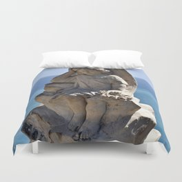 Angel and Cross on the Isle of Sicily Duvet Cover