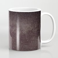 milky way Mugs featuring Milky way by Simon Laroche