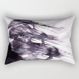 haiku illustration ink - ancient cedars and wind Rectangular Pillow