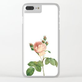 Vintage Pink Rose [07] Clear iPhone Case