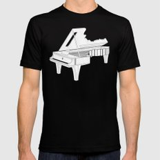 Music Is The Key. MEDIUM Mens Fitted Tee Black