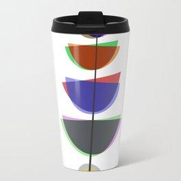 Mid Century Uno - Abstract Pastel Art Travel Mug
