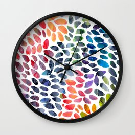 Colorful Painted Drops Wall Clock