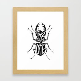 Typo Bug Framed Art Print