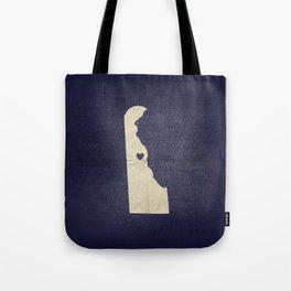 Dover Delaware Map Art Tote Bag