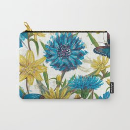 Seamless floral pattern with flowers and butterfly Carry-All Pouch