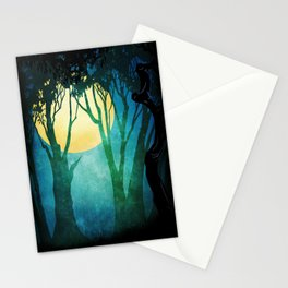 Dance By The Light Of The Full Moon Stationery Cards