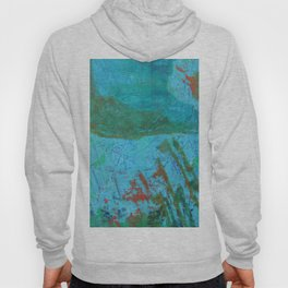 Blue ocean - abstract,acrylic, minimal art piece in shades of blue Hoody