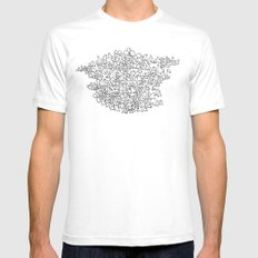 Herd SMALL White Mens Fitted Tee