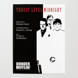 The Office Poster - Threat Level Midnight Poster