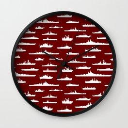 Battleship // Maroon Wall Clock