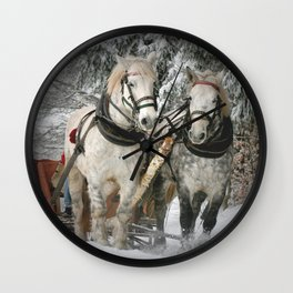 Christmas Horses Wall Clock