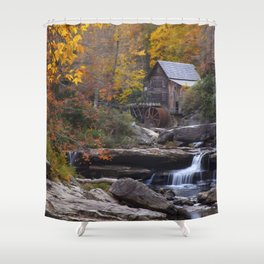 Glade Creek Grist Mill in Autumn II Shower Curtain