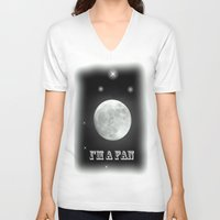 lunar V-neck T-shirts featuring LUNAR by Laake-Photos