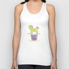 the secret wish of a cactus Unisex Tank Top