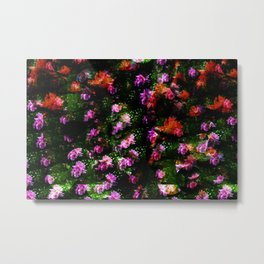 Floral Camoflague Metal Print