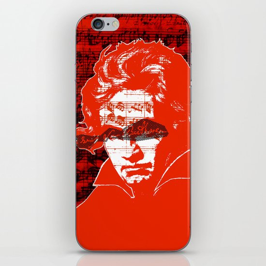 Ludwig van Beethoven · red10 iPhone & iPod Skin