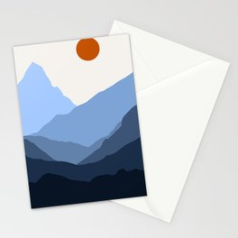 Somewhere in the Mountains Stationery Cards