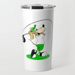 Golfing Dog Travel Mug