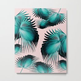 Fan Palm Leaves Paradise #4 #tropical #decor #art #society6 Metal Print