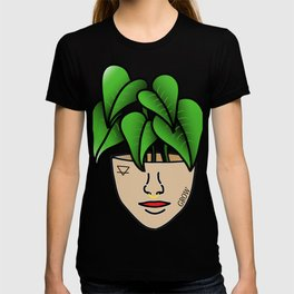 Plant Lover, Lace Leaf Plant Person With Face Tattoos T-shirt