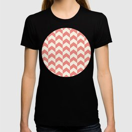 Red & Cream Summer Arrow Chevron Pattern T-shirt