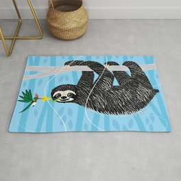 The Sloth and The Hummingbird Rug