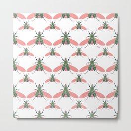 Beetleglam Pink Teal Pattern  Metal Print