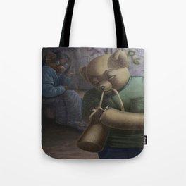 Drug Addict Teddy Tote Bag