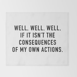 Consequences Throw Blanket