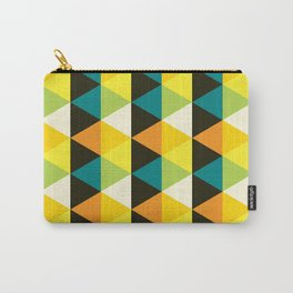 Geometric Pattern #60 (teal orange yellow triangles) Carry-All Pouch