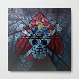 "Flag ACE ""One Piece"" Metal Print"
