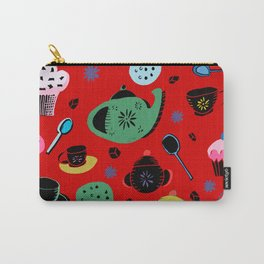 tea on red Carry-All Pouch