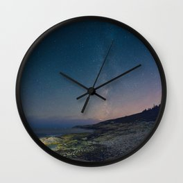 The Milky Way over Duncan's Cove Wall Clock