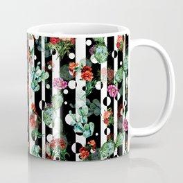 Cactus Flowers and Lines Coffee Mug